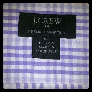 Purple Checkered Dress Shirt
